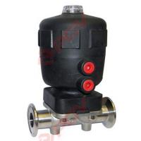China Sanitary clamp pneumatic diaphragm valve on sale