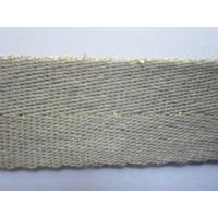 Buy cheap 20mmCotton+GoldYarnWebbing from wholesalers