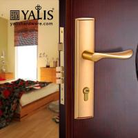 Buy cheap A9137 concise Polished Brass vintage door handles for bedroom from wholesalers