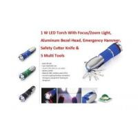 Buy cheap Outdoor LED Multi Tool Flashlights With Hammer & Cutter from wholesalers