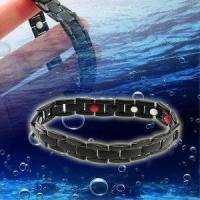 Wholesale Anti-Fatigue 4in1 Titanium Anion Magnetic Energy Germanium Power Health Bracelet With Nice Gift Box from china suppliers