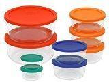 Buy cheap Pyrex 1110141 18pc Glass Food Storage with Multi-colored Lids product