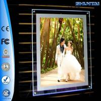 Wholesale Wall hanging transparent screw picture crystal slim light box from china suppliers