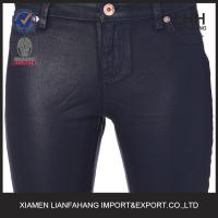 Wholesale New best quality wax-finish skinny mid-rise jeans for women,jeans wholesale price,jeans women from china suppliers