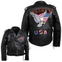 Wholesale Diamond Plate Men's Hand-Sewn Pebble Grain Genuine Buffalo Leather Jacket from china suppliers