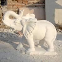 Buy cheap Stone Carving white marble animal elephant statue from wholesalers