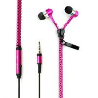 Buy cheap mp3 mp4 colourful promotional zipper earbuds from wholesalers