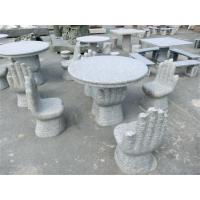 cheap natural stone round table set Manufactures
