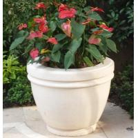 Buy cheap White Marble Stone Vase for Landscaping product