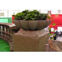 Wholesale Brown Granite Garden Vase from china suppliers