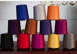 Quality Yarn products Dope dyed polyster spun yarn for sale