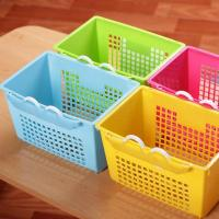 New design colorful plastic storage basket with hook Manufactures