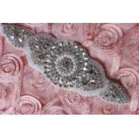 Buy cheap Motif Faux Pearl Rhinestone Crystal Wedding Dress Sash Applique from wholesalers