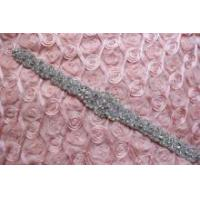 Buy cheap Iron Sew Rhinestone Crystal Wedding Bridal Craft DIY Applique Sash Dress Motif Ttimmings from wholesalers