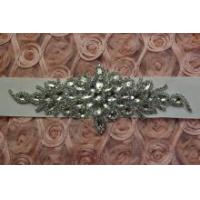 Buy cheap Bridal sash applique, rhinestone applique, crystal applique, rhinestone bead applique from wholesalers
