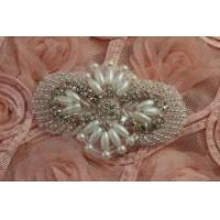 Wholesale Beaded Rhinestone applique,crystal rhinestone patch for Garment Accessories Hair Accessories from china suppliers