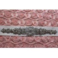 Buy cheap Clear Rhinestone Bridal Dress Applique-Wedding Trim-Bridal Belt DIY USA SELLER from wholesalers