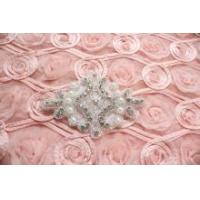 Buy cheap Crystal Rhinestone Applique Wedding Bridal Glass Iron on Applique Patch from wholesalers