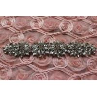 Buy cheap DIY Faux Pearl Beaded Rhinestone Crystal Wedding Bridal Craft Applique from wholesalers