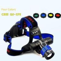 Buy cheap 18650 Rechargeable Zoomable 3 Gears CREE Q5/ T6-L2 High Brightness Headlamp/Head Light from wholesalers