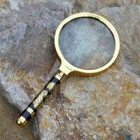 Wholesale 80MM Diameter Chinese Dragon Design Handle Magnifier/Maginifying Glass for Reading from china suppliers