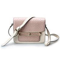 Wholesale Good quality low price ostrich cow leather small cell phone single shoulder bag for girls from china suppliers