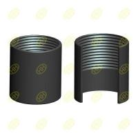 Buy cheap Half thread pipe coupling(pipe socket) from wholesalers