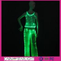 Wholesale YQ-62-66 light up women tank top & led pants from china suppliers