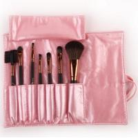Buy cheap 7 Pcs Cosmetic Makeup Brushes in Sleek Pink Leather-Like Case Portable Hot Sale from wholesalers