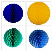 Display Decorations Flame Resistant Honeycomb Paper Ball Hanging Decoration