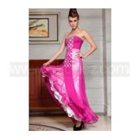 Wholesale Deep pink A-Line strapless sexy prom dress from china suppliers