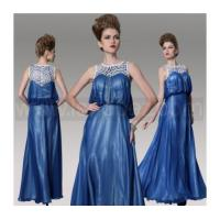 Wholesale Dark Blue A-Line Plus Size Mother Of Bride Dress, Floor Length Evening dress from china suppliers