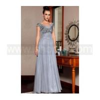 Buy cheap Grey bead embroidered applique mother of bride dress from wholesalers