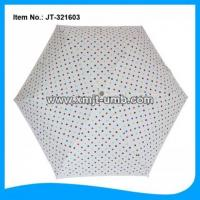 Buy cheap Folding Umbrella white color folding market umbrella with polka dots from wholesalers