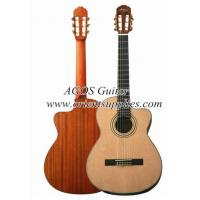 Wholesale 39inch OEM Cutaway Bleach Spruce Top Classical guitar CG3921C-BR from china suppliers