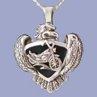 China Jewelry - Eagle with Motorcycle Cremation Pendant on sale