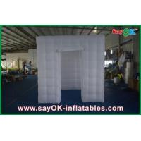 Buy cheap Huge Inflatable Cube Photo Booth Enclosure White 210 D Oxford Cloth from wholesalers