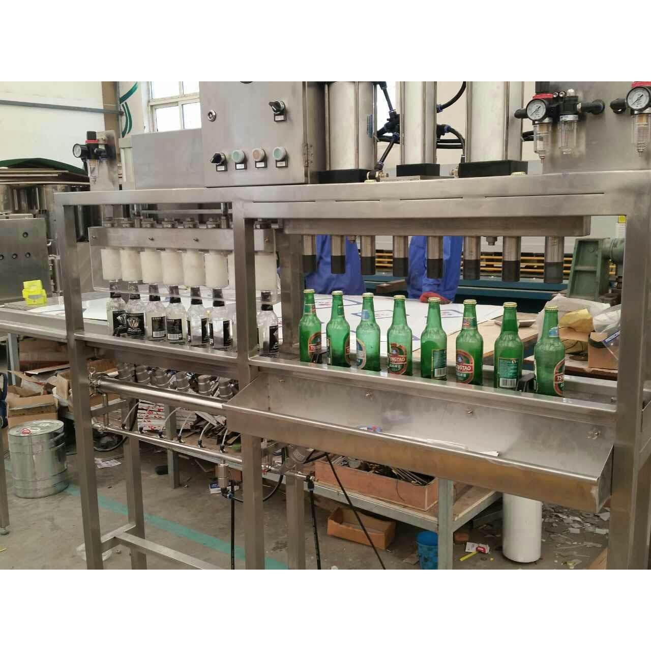 Buy cheap Keg Washer Filler 8 heads beer filling and capping monoblock machine from wholesalers