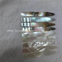 Wholesale white mother of pearl shell collar stays from china suppliers