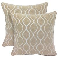 Wholesale Decorative Accessories Gemma Chenille Geometri c20-inch Toss Pillow (Set of 2) from china suppliers