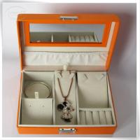 Orange jewelry storage box Manufactures