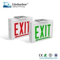 Buy cheap emergency exit light led exit signs steel housing double faces from wholesalers