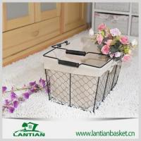 Buy cheap Wholesale new products customized antique wire basket with faric from wholesalers