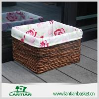 Wholesale Cheap square lined handmade wicker storage basket from china suppliers