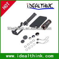 Item  Travel Kit 4 in1 Lens Kit for iPhone 4/4S (10X Telephoto+Fish Eye+Wide Angle+Macro Lens)