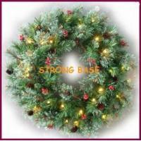 Buy cheap Battery operated led light wreath Christmas/60CM HOLIDAY LED PRE-LIT ARTIFICIAL WREATH WITH FOLIAGE from wholesalers