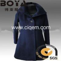 Wholesale Apparel Processing Services The new 2014 women accept waist single-breasted coat from china suppliers
