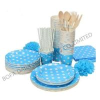 Wholesale PRODUCT White dot printing tableware set paper party tableware set from china suppliers
