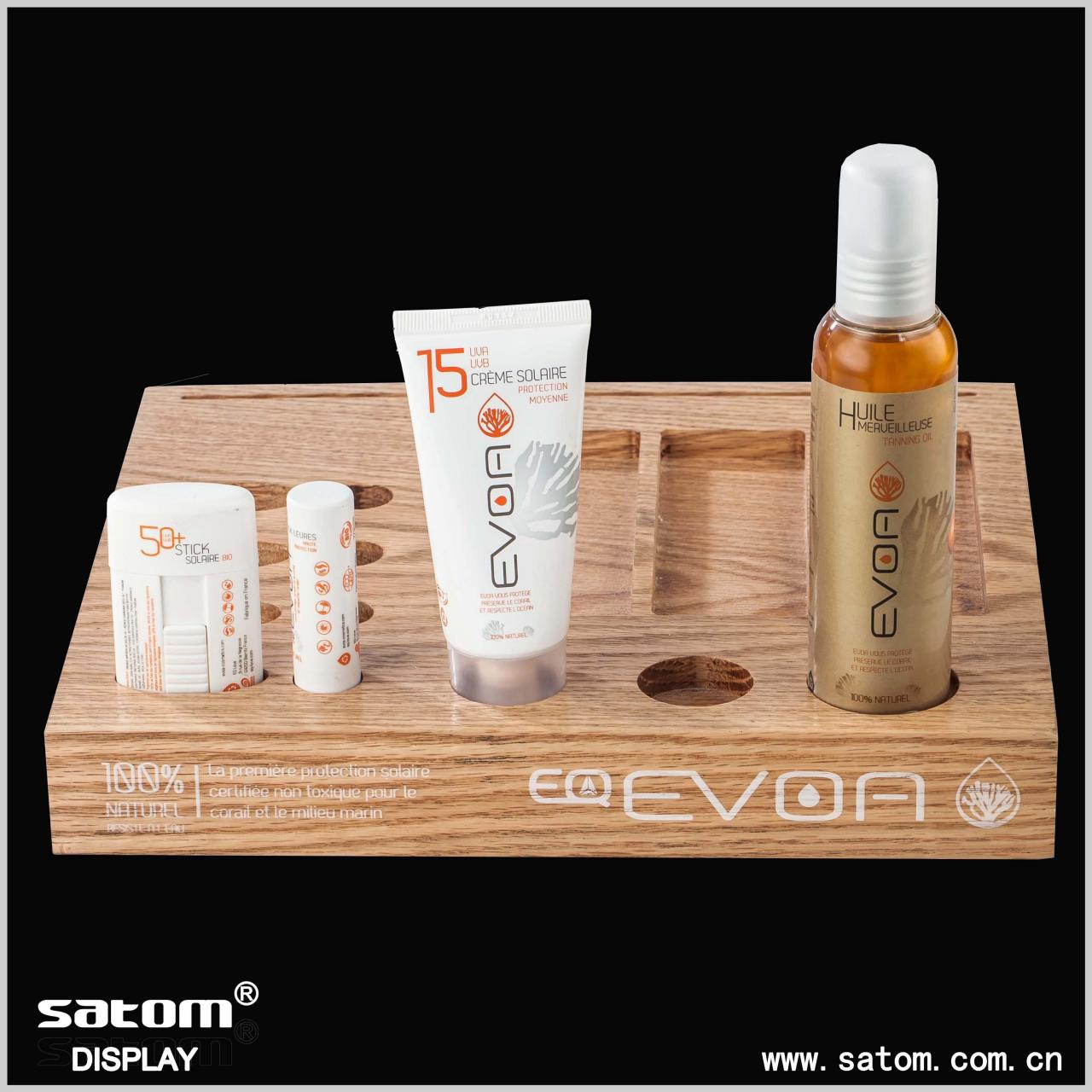 Wooden cosmetic display Manufactures