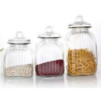 Wholesale Glass food kitchen storage container/ jar/bottle/ with glass lid sealed from china suppliers